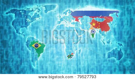 Brics Countries On World Map