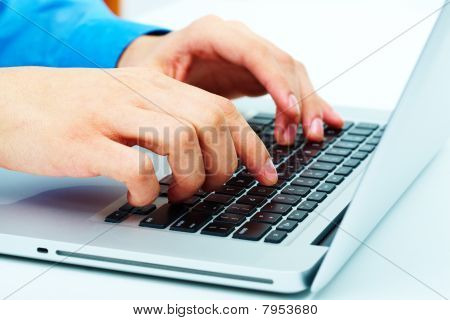 Hands Over Keyboard