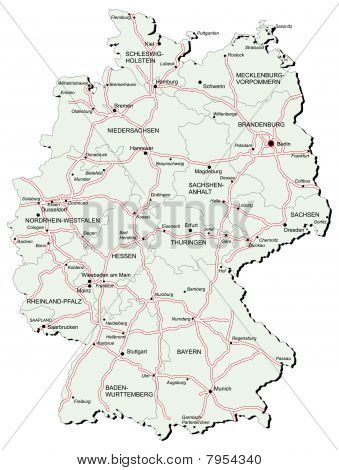 Germany Autobahn Map