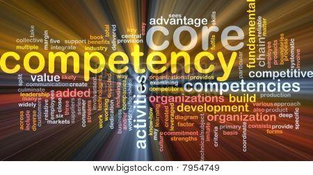 Core Competency Word Cloud Glowing