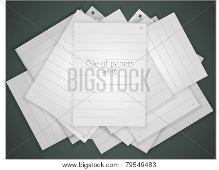 Pile of papers. Fully vector, enjoy!