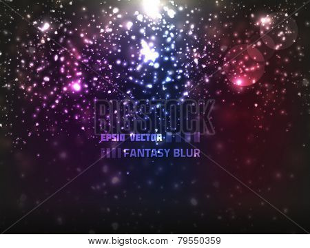 Colorful abstract vector background with blurry fantasy lights. Has a christmas feel to it.