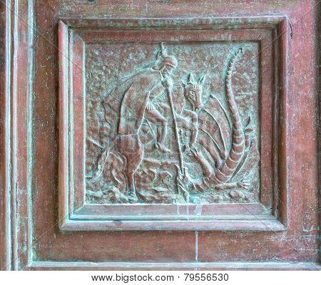 Supetar church door detail