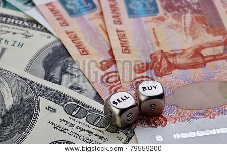 Us dollar Russian rouble , Dices Cubes