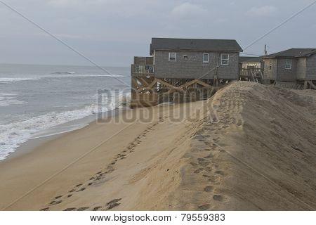 Cape Hatteras Beach Ocean Sand Barrier