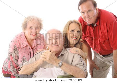 残疾父亲的家庭