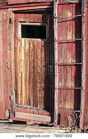 Red door on caboose