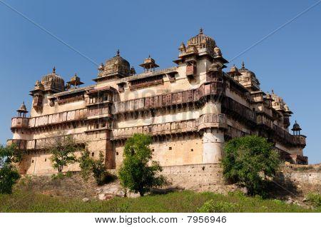 Jehangir Mahal Palace in Orchha Madhya Pradesh India. poster