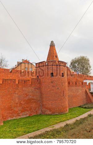 Defensive Walls (circa Xvi C.) Of Warsaw City, Poland