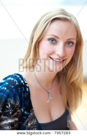 Blonde Female Employee