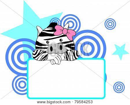 sweet girl zebra cartoon singboard