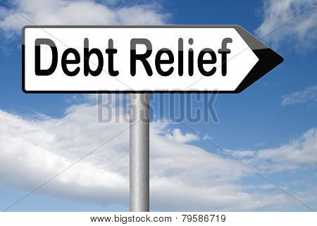 debt relief after bankruptcy caused by credit or housing bubbles restructuring finance after economic or bank crisis  poster
