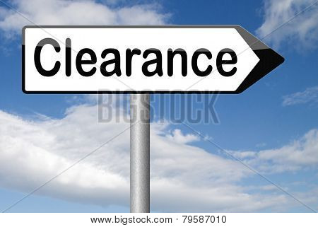 clearance grand sale stock summer or winter sales and reduced prices % off authorization granted or denied by bill computer and information security  poster