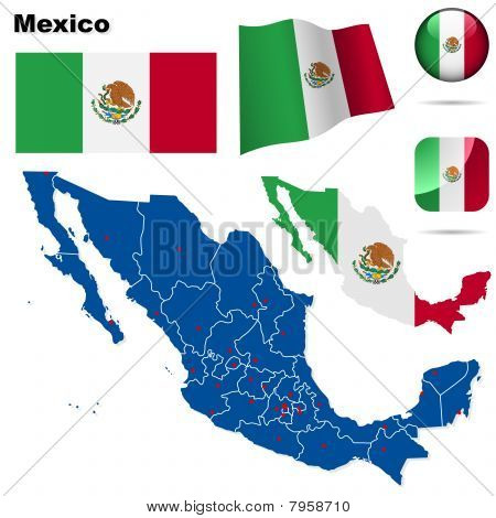 Mexico vector set.