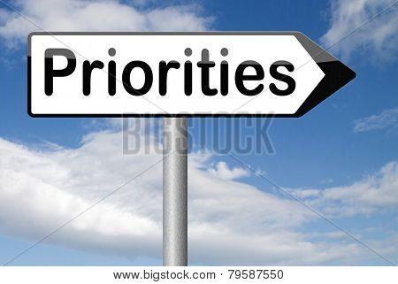 priorities important very high urgency highest importance crucial information top priority dont forget