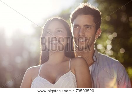 Beautiful Young Couple Enjoying The Sun