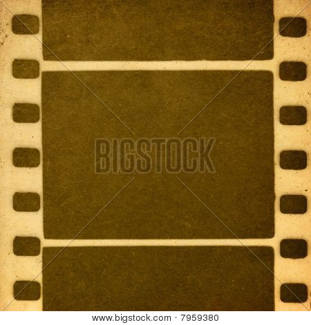 Retro Film Image. Imitates The One-color Print On Old Paper.