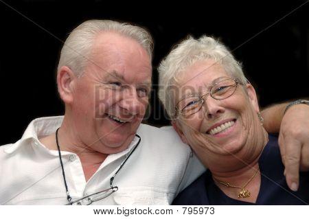 Eternal love, flirting couple, seniors