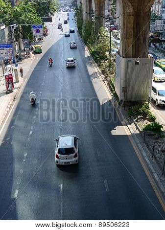 Traffic On The Street In Bangkok