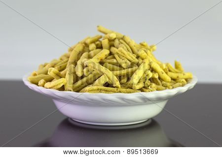 Ratlami Sev : Snacks of chick peas with punch of clove. poster