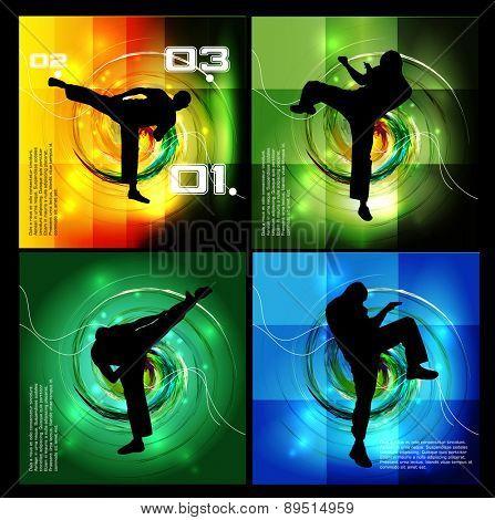 Sport. Karate illustartion, vector