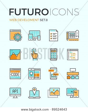 Web Develop Futuro Line Icons