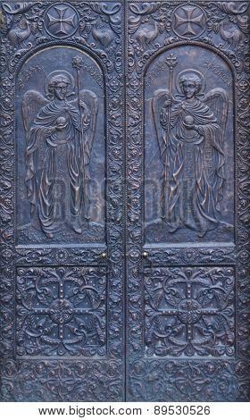 Metal door of Church