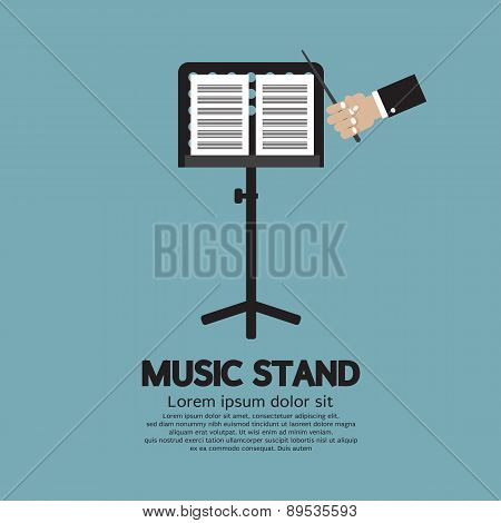 Single Music Stand With Conductor.