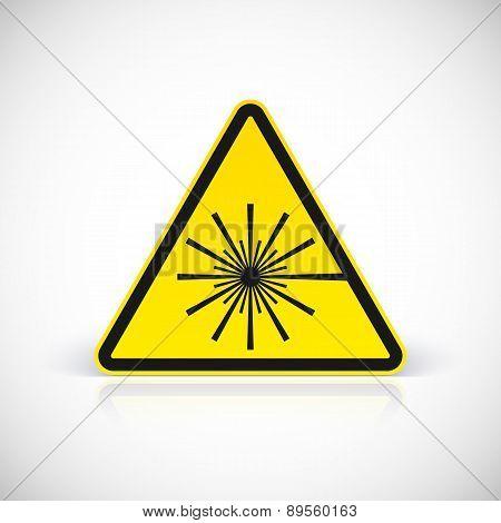 Laser Hazard warning sign.