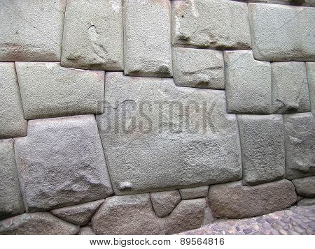 Ancient Wall In Cuzco, Peru