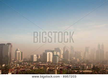 smog dome over a big city