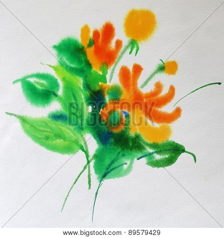Watercolor Flower
