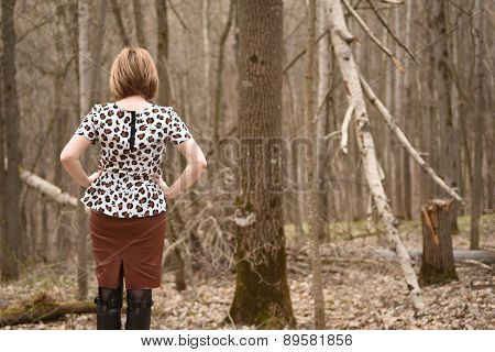 Female in forest