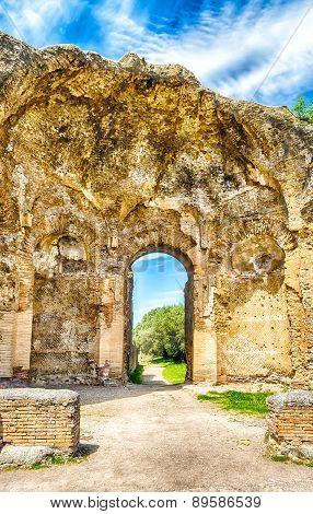 Ruins At Villa Adriana (hadrian's Villa), Tivoli, Italy