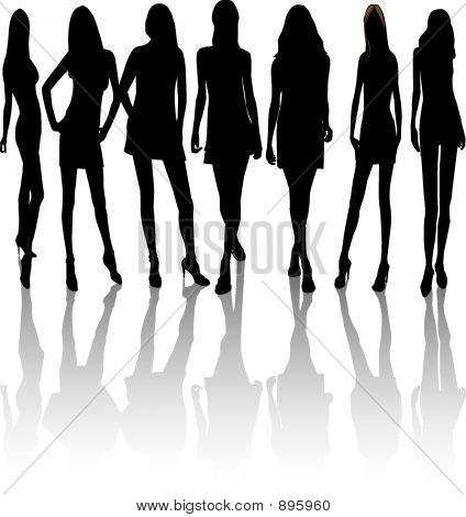 Frauen Silhouetten