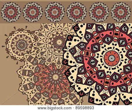 Card with mandalas