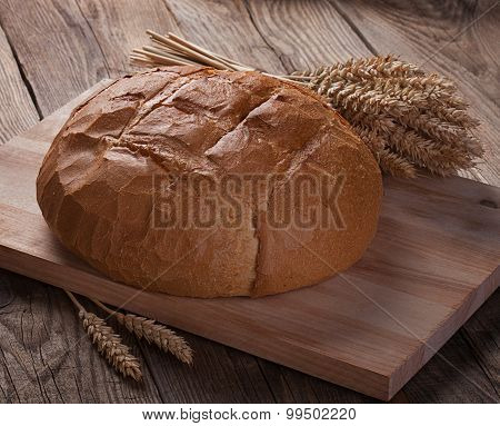 Bread And Ears On The Old Boards