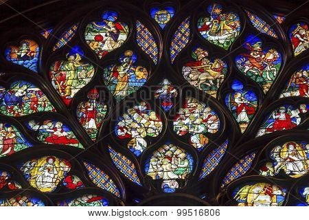 King Advisors Rose Window Stained Glass Sainte Chapelle Paris France