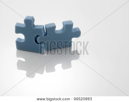 two pieces of the matching jigsaw puzzle