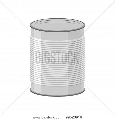 Cans For Canned Food On White Background. Tin Vector Illustration