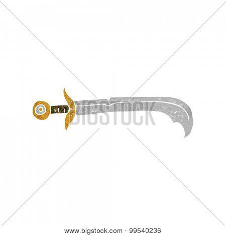 retro cartoon sword