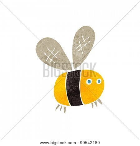 retro cartoon bee