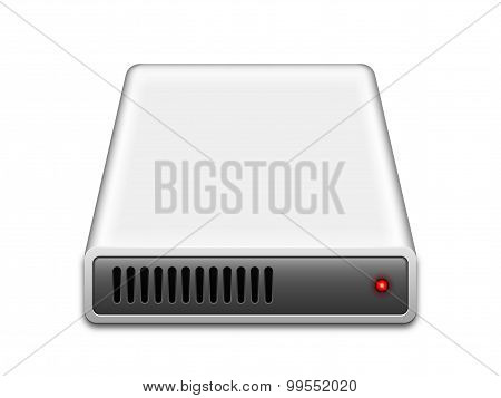 Hard Disk Drive Icon, Vector Illustration