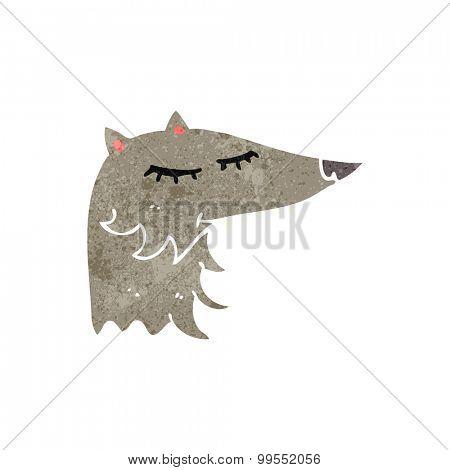 retro cartoon wolf