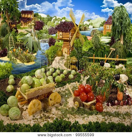 Village Made From Food