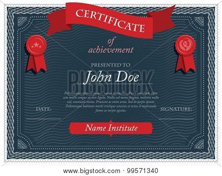 Certificate, eps10 vector