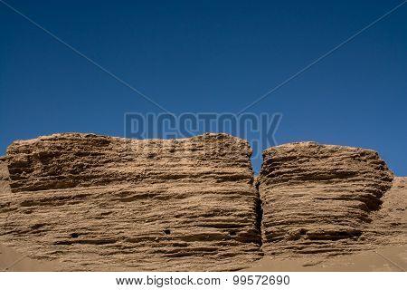 Landform In Desert, Inner Mongolia, China