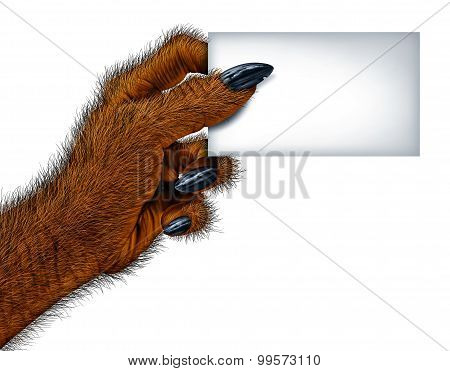 Werewolf Blank Card