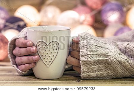 Hot cup with heart