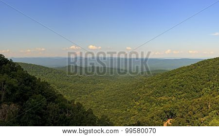 Panoramic View From Overall Run Falls Trail